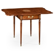 Jonathan Charles Home Burl & Mother Of Pearl Rectangle Pembroke Table
