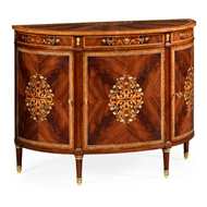 Jonathan Charles Home Mahogany Demilune Cabinet 499504-MAM-MOP Antique Mahogany Medium - PU-NC High Lustre on ven