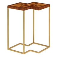 Jonathan Charles Home Walnut Bookmatched Side Table