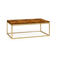 Jonathan Charles Home Walnut Bookmatched Coffee Table