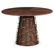 "Jonathan Charles Home Circular 48"" Diameter Dining Table"