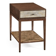 Jonathan Charles Home Square Bedside Table In Natural Walnut