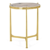 Jonathan Charles Home Polished Solid Brass Lamp Table 500042