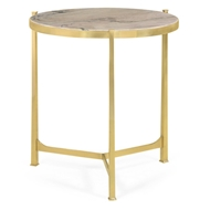 Jonathan Charles Home Polished Solid Brass Lamp Table 500043