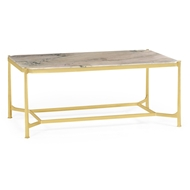 Jonathan Charles Home Blanco Equador Marble Rectangular Coffee Table 500044
