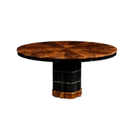 Jonathan Charles Home Bookmatched Round Dining Table