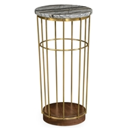 Jonathan Charles Home Brass & Marble Round Side Table