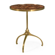 Jonathan Charles Home Round Side Table With Dark Eggshell