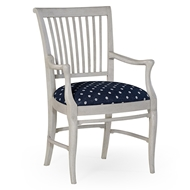 Jonathan Charles Home Kilkenny Armchair (Country White) 530009-CWA WY Country White Acacia finish