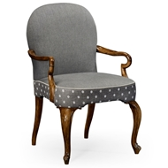 Jonathan Charles Home Gunby Dining Armchair 530010-AC-GFA WY Grey Fruitwood Finish on Acacia