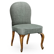 Jonathan Charles Home Gunby Dining Side Chair 530010-SC-GFA WY Grey Fruitwood Finish on Acacia