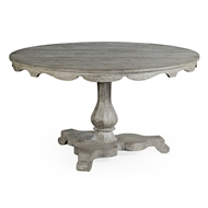 "Jonathan Charles Home 54"" Overbury Grey Oak Breakfast Table 530021-54D"