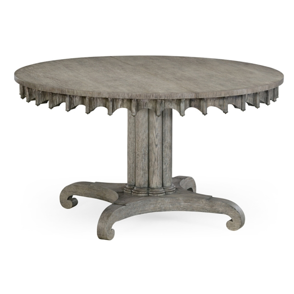Jonathan Charles Home Longwood Round To Oval Dining Table