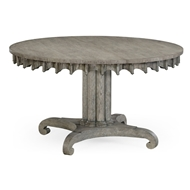 Jonathan Charles Home Longwood Round-To-Oval Dining Table (Greyed Oak)