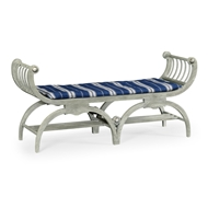 Jonathan Charles Home Double Lucca Bench 530105-CLO Cloudy Oak Finish