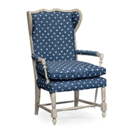 Jonathan Charles Home Montbard Chair 530107-GYO Greyed Oak finish