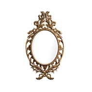 Jonathan Charles Wall Decor Leicester Mirror 530162-WBM WY Bleached Mahogany finish on Xacu wood