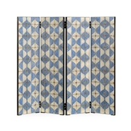 Jonathan Charles Home Octavian Screen Panels 530198-PWB WY painted white and blue