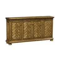 Jonathan Charles Home Four-Door Cabinet - Light Brown Chestnut 491177-LBC