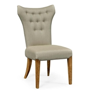Jonathan Charles Home High Back Light Brown Chestnut Winged Side Chair - Mazo 491186-SC-LBC-F001
