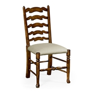 Jonathan Charles Home Walnut country ladder back chair 492296-SC-WAL-F001
