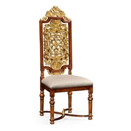 Jonathan Charles Home Jacobean style gilt walnut side chair 492491-WAL-F001