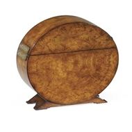 Jonathan Charles Home Circular Walnut & Inlay Placemat Box 492500-WAL