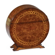 Jonathan Charles Home Circular Walnut & Circular Inlay Placemat Box 492504-MWC
