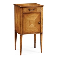 Jonathan Charles Home Pair of satinwood bedside cabinets 492975