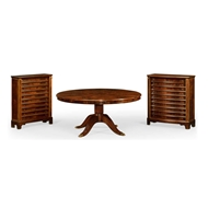 "Jonathan Charles Home 66"" Mahogany Extending Circular Dining/Games Table"