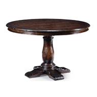 "Jonathan Charles Home 48"" French Country Dark Oak Table 493247"