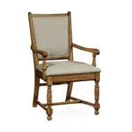 Jonathan Charles Home Light Brown Chestnut Country Armchair - Mazo 493323-AC-LBC-F001