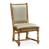 Jonathan Charles Home Light Brown Chestnut Country Side Chair - Mazo 493323-SC-LBC-F001