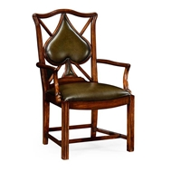 "Jonathan Charles Home Playing card ""Spade"" armchair 493361-AC-WAL-L007"