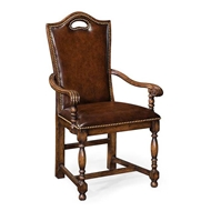 Jonathan Charles Home Dark Oak High Back Armchair 493381-AC-TDO