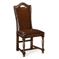 Jonathan Charles Home Dark Oak High Back Side Chair 493381-SC-TDO