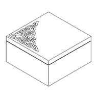 Jonathan Charles Home Raised Celtic veneer square box  493785