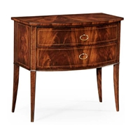 Jonathan Charles Home Biedermeier style mahogany bow front chest 494023-LAM