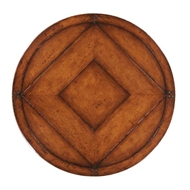 "Jonathan Charles Home 32"" Country Walnut Lazy Susan 494054-LS-32D"