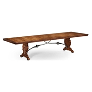Jonathan Charles Home Spanish Dining Table Plank Top 494195-96L
