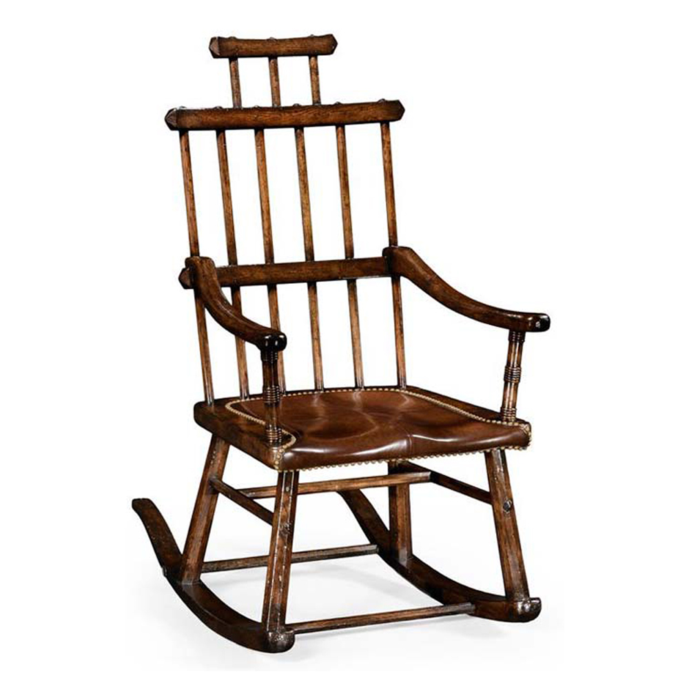 Attractive Jonathan Charles Home Oak Windsor Style Rocking Chair