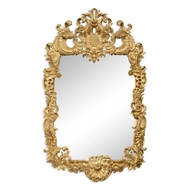 Jonathan Charles Wall Decor Finely carved & gilded rococo style mirror 494372-GIL