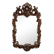 Jonathan Charles Wall Decor Finely carved walnut rococo style mirror 494372-WAL