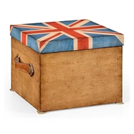 Jonathan Charles Home Union Jack Square Box Painted 494423-WLL