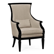 Jonathan Charles Home Upholstered occasional chair in Mazo 495432-BLA-F001
