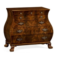 Jonathan Charles Home Brown mahogany bombe chest 495724-LBM