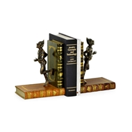 Jonathan Charles Home Pair of Antique Dark Bronze Elf Bookends 495765-DBR