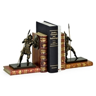 Jonathan Charles Home Pair of Antique Dark Bronze Roman Gladiator Bookends 495770-DBR