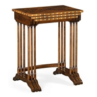 Jonathan Charles Home 3 Nesting Tables with Faux Bone Inlay 495830-LBM