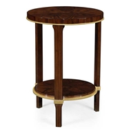 Jonathan Charles Home Small Round Dark Santos End Table